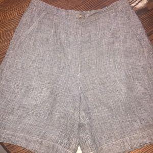 Talbots Ladies 100% Linen Shorts